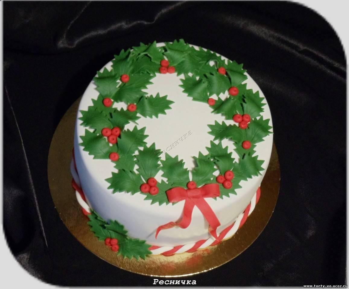 Новогодние торты своими руками фото