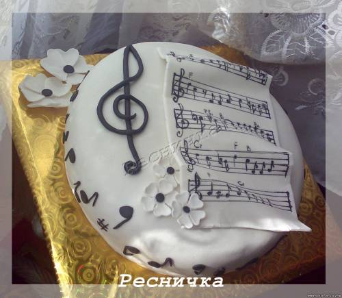 Музыкальный торт фото